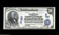 National Bank Notes:Pennsylvania, Pittsburgh, PA - $20 1902 Date Back Fr. 642 The German NB Ch. #(E)757 A lovely example which is just a hair from the f...