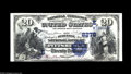 National Bank Notes:Pennsylvania, Pittsburgh, PA - $20 1882 Date Back Fr. 552 The Duquesne NB Ch. #(E)2278 Fully new, but very tight at the bottom. Cr...