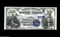 National Bank Notes:Pennsylvania, Pittsburgh, PA - $20 1882 Date Back Fr. 552 The Duquesne NB Ch. #(E)2278 A very pretty note which is perfect but for t...