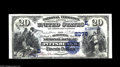 National Bank Notes:Pennsylvania, Pittsburgh, PA - $20 1882 Date Back Fr. 552 The Duquesne NB Ch. #(E)2278 Trimmed just into the design at the bottom, o...