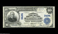 National Bank Notes:Pennsylvania, Pottstown, PA - $10 1902 Plain Back Fr. 625 The National Iron BankCh. # 3494 A tough bank to obtain in large size, wit...