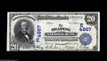 National Bank Notes:Pennsylvania, Reading, PA - $20 1902 Date Back Fr. 647 The Reading NB Ch. #(E)4887 Fully original, but trimmed well into the design ...