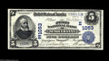 National Bank Notes:Pennsylvania, Susquehanna, PA - $5 1902 Date Back Fr. 598 The First NB Ch. #(E)1053 A very tough bank in both issuing titles, with t...