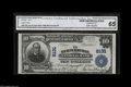 National Bank Notes:Pennsylvania, Wernersville, PA - $10 1902 Plain Back Fr. 625 The Wernersville NBCh. # 8131 A vividly colored and pen signed example ...