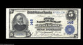 National Bank Notes:Pennsylvania, West Chester, PA - $5 1902 Plain Back Fr. 598 The First NB Ch. #148 A high grade large example from this much sought a...