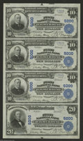 National Bank Notes:Pennsylvania, Wilmerding, PA - $10-$10-$10-$20 1902 Plain Back Fr. 631/657 TheFirst NB Ch. # 5000 A stunningly beautiful Choice C...