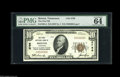 National Bank Notes:Tennessee, Bristol, TN - $10 1929 Ty. 1 The First NB Ch. # 2796 This SullivanCounty institution included only the $10 and $20 ty...