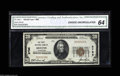 National Bank Notes:Tennessee, Bristol, TN - $20 1929 Ty. 1 The NB Ch. # 2796 This makes only thethird Uncirculated $20 according to the census, ver...