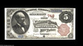 Montpelier, VT - $5 1882 Brown Back Fr. 467 The First NB Ch. # 748 An absolutely marvelous $5 Vermont Brown Back with e...