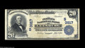 National Bank Notes:Virginia, Leesburg, VA - $20 1902 Plain Back Fr. 652 The Peoples NB Ch. #(S)3917 A scarce Loudon County bank in what is now one ...