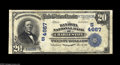 National Bank Notes:West Virginia, Charleston, WV - $20 1902 Plain Back Fr. 654 The Kanawha NB Ch. #4667 A still quite nice looking Fine+ example fr...