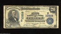 National Bank Notes:West Virginia, Fairview, WV - $20 1902 Plain Back Fr. 654 The First NB Ch. #(S)10219 A very tough large note from the sole bank to is...