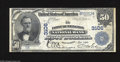 National Bank Notes:West Virginia, Huntington, WV - $50 1902 Plain Back Fr. 675 The First HuntingtonNB Ch. # 3106 A very rare West Virginia type and deno...