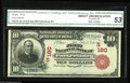 National Bank Notes:West Virginia, Parkersburg, WV - $10 1902 Red Seal Fr. 613 The First NB Ch. #(S)180 One of only five Red Seals from here listed in th...