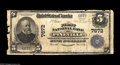 National Bank Notes:West Virginia, Pineville, WV - $5 1902 Plain Back Fr. 598 The First NB Ch. # 7672This is the only one of the two issuing banks locat...