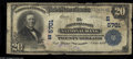 National Bank Notes:West Virginia, Point Pleasant, WV - $20 1902 Plain Back Fr. 659 The Point PleasantNB Ch. # (S)5701 A well circulated but intact examp...