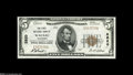 National Bank Notes:Wisconsin, Wausau, WI - $5 1929 Ty. 1 The First NB Ch. # 2820 A Choice Crisp Uncirculated+ example from one of the most avail...
