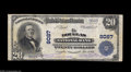 National Bank Notes:Wyoming, Douglas, WY - $20 1902 Plain Back Fr. 651 The Douglas NB Ch. # 8087 This is one of just a dozen large notes of all type...