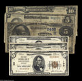 National Bank Notes:Mixed, A Quintet of Mixed Type Nationals from Mixed States Cincinnati, OH- $5 1882 Date Back Fr. 537 Citizens NB Ch. # M2495 VG, ... (6notes)