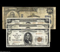 National Bank Notes:Mixed, Midwestern Nationals Fort Dodge, IA - $10 1902 Plain Back Fr. 624Fort Dodge NB Ch. # 2763 VG Wichita, KS - $5 1929 Ty. 1 ... (4notes)