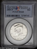 Kennedy Half Dollars: , 2005-P 50C Satin Finish MS68 PCGS. ...