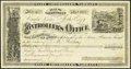 Obsoletes By State:Nevada, Carson, NV - Controller's Office State Prison Fund Warrant $60 Mar. 3, 1877. ...