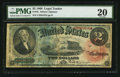 Large Size:Legal Tender Notes, Fr. 42 $2 1869 Legal Tender PMG Very Fine 20.. ...