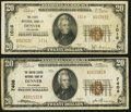 National Bank Notes:Colorado, Denver, CO - $20 1929 Ty. 2 The First NB Ch. # 1016;. Denver, CO -$20 1929 Ty. 1 The United States NB Ch. # 740... (Total: 2 notes)