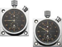 Ed. Heuer & Co. Two Autavia Rally Timers For Abercrombie & Fitch Co