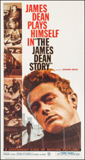 """Movie Posters:Documentary, The James Dean Story (Warner Brothers, 1957). Three Sheet (41"""" X 79""""). Documentary.. ..."""