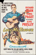 "Movie Posters:Elvis Presley, Love Me Tender (20th Century Fox, 1956). One Sheet (27"" X 41""). Elvis Presley.. ..."