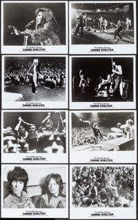 "Gimme Shelter (20th Century Fox, 1970). Photos (9) (8"" X 10"") & Transparency (5"" X 3.25""). Rock..."