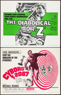 "Movie Posters:Horror, The Diabolical Dr. Z & Other Lot (U.S. Films Inc., 1966). Half Sheets (2) (22"" X 28""). Horror.. ... (Total: 2 Items)"