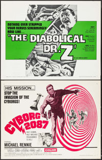 "The Diabolical Dr. Z & Other Lot (U.S. Films Inc., 1966). Half Sheets (2) (22"" X 28""). Horror. ... (Total:..."