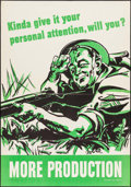 "Movie Posters:War, World War II Propaganda (U.S. Government Printing Office, 1944). Poster (28"" X 40"") ""Kinda Give It Your Personal Attention, ..."