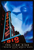 """Movie Posters:Animation, The Lion King (Buena Vista, 1994). Rolled, Very Fine-. One Sheet (27"""" X 40""""). SS Advance Radio City Music Hall Style. Animat..."""