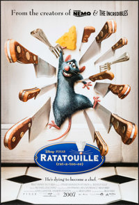 """Ratatouille & Other Lot (Buena Vista, 2007). One Sheets (3) (27"""" X 40"""") DS Advance. Animation. ... (Total:..."""