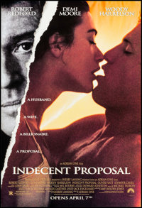 "Indecent Proposal & Others Lot (Paramount, 1993). One Sheets (4) (27"" X 40"") DS Advance. Drama. ... (Total..."