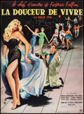 """Movie Posters:Foreign, La Dolce Vita (Pathe, 1960). Trimmed French Petite (15.5"""" X 21""""). Foreign.. ..."""