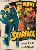"""Movie Posters:Crime, Scarface (Films Marbluf, R-1950s). French Grande (47"""" X 63"""")Constantin Belinsky Artwork. Crime.. ..."""