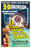 """Movie Posters:Science Fiction, It Came from Outer Space (Universal International, 1953). One Sheet (27"""" X 41.5"""") 3-D- Style, Joseph Smith Artwork.. ..."""