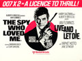 """Movie Posters:James Bond, The Spy Who Loved Me/Live and Let Die Combo (United Artists, R-1977). British Quad (30"""" X 40"""").. ..."""