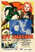 """Movie Posters:Serial, Spy Smasher (Republic, 1942). One Sheet (27"""" X 41"""") Chapter 12 -- """"V...-"""".. ..."""