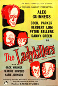 """Movie Posters:Comedy, The Ladykillers (Rank, 1955). Full-Bleed British One Sheet (27"""" X 40"""") & British Lobby Cards (6) (11"""" X 14"""").. ... (Total: 7 Items)"""