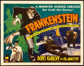 "Movie Posters:Horror, Frankenstein (Realart, R-1951). Title Lobby Card (11"" X 14"").. ..."