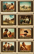 """Movie Posters:Western, The Searchers (Warner Brothers, 1956). Lobby Card Set of 8 (11"""" X14"""").. ... (Total: 8 Items)"""