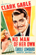 "Movie Posters:Drama, No Man of Her Own (Paramount, R-1937). One Sheet (27"" X 41"").. ..."