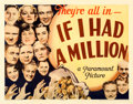 "Movie Posters:Comedy, If I Had a Million (Paramount, 1932). Half Sheet (22"" X 28"") StyleA.. ..."