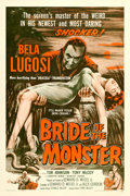 """Movie Posters:Horror, Bride of the Monster (Filmmakers Releasing, 1956). One Sheet (27"""" X 41"""").. ..."""