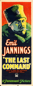 "Movie Posters:Drama, The Last Command (Paramount, 1928). Insert (14"" X 36"").. ..."